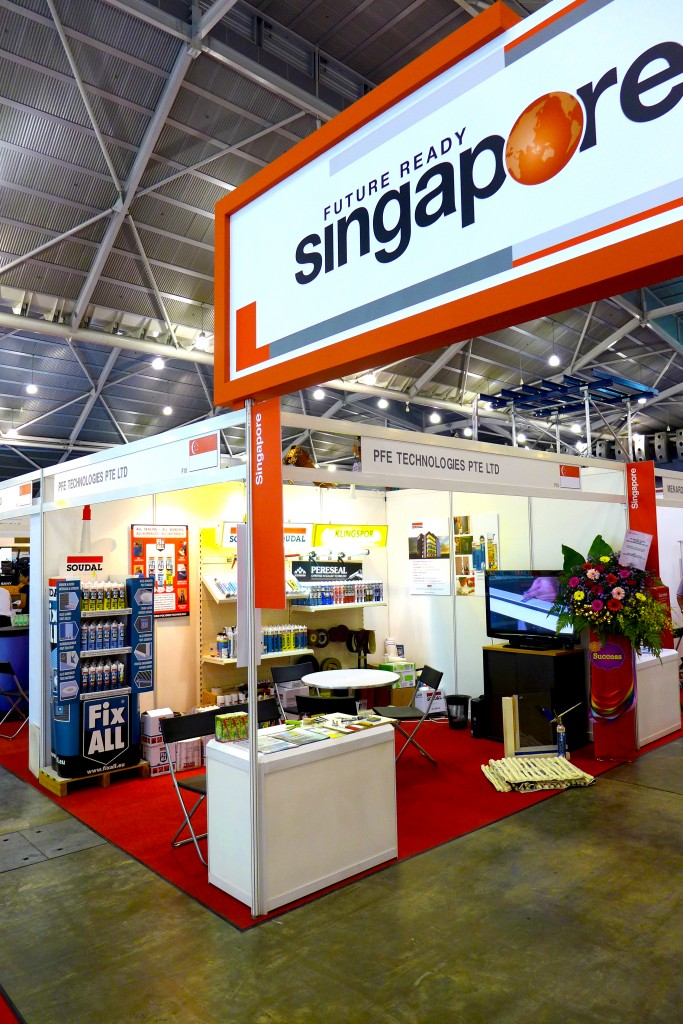 PFE Buildtech Asia Exhibition booth